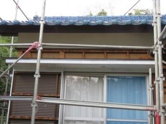 破風塗装工事3