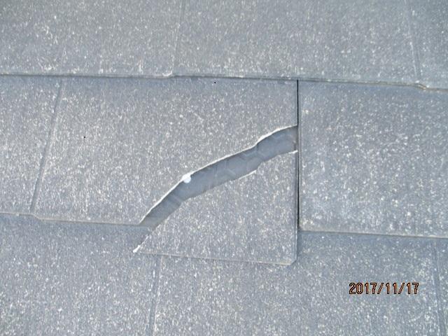屋根被害状況