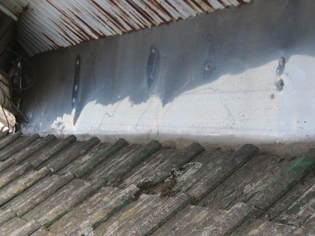 セメント瓦の塗装工事