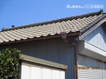高圧洗浄の屋根