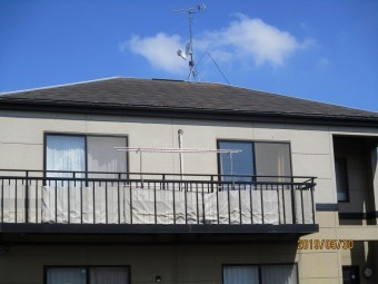 かカバー工法による屋根葺き替え