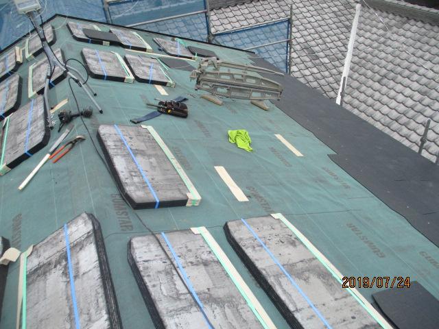 コロニアル屋根工事