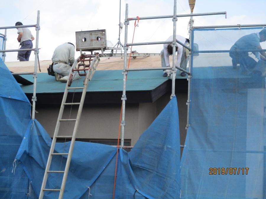防水シート工事