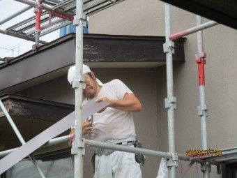 破風巻き板金工事