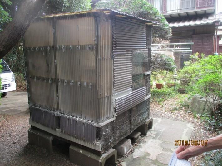 鳩小屋の改造工事