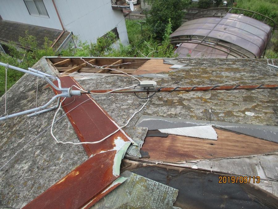 台風15号被害工事