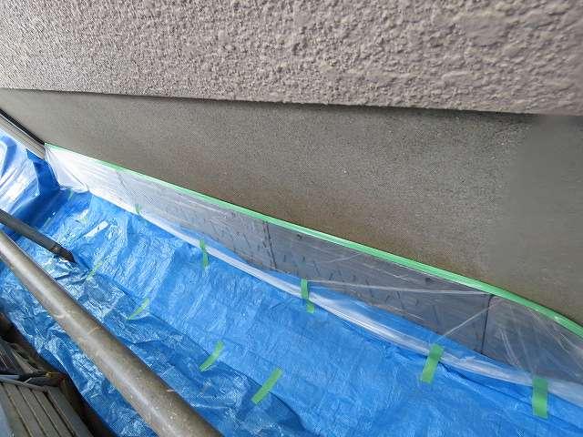 塗装工事の為の養生工事