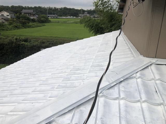 屋根板金下塗り塗装の完成