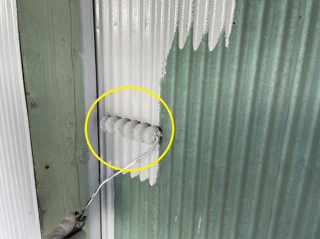 下塗り塗装外壁板金部分