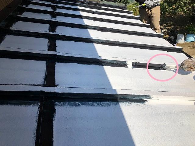 中塗り塗装 瓦棒屋根板金