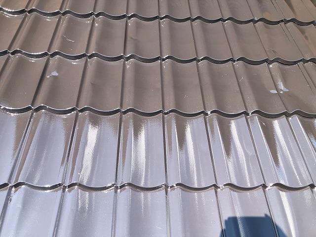 上塗り塗装 屋根板金 仕上がり