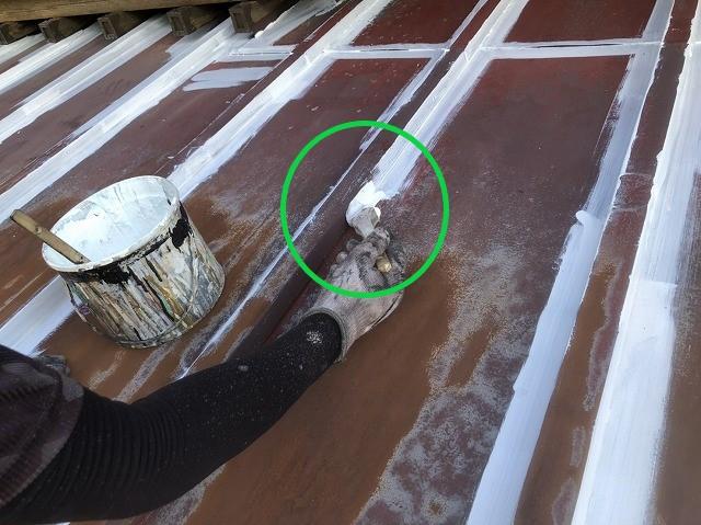 瓦棒板金の下塗り塗装
