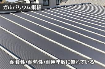 耐食性・耐熱性・耐用年数に優れたガルバリウム鋼板